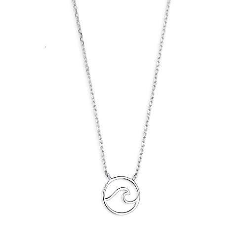 Xenox Damen-Halskette WANDERUST Motiv Welle aus 925er Sterlingsilber