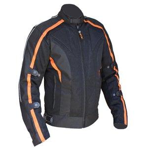 Bikers-Gear-UK-Giacca-Sport-Giacca-legera-modelo-Chicane-in-fibra-legera-e-impermeabile-nero-Arancione-taglia-taglia-2XL