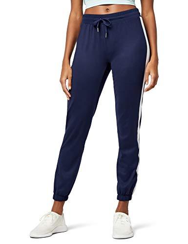 AURIQUE Straight Leg Jogger Sporthose, Blau (Navy), 34 (Herstellergröße: XS)