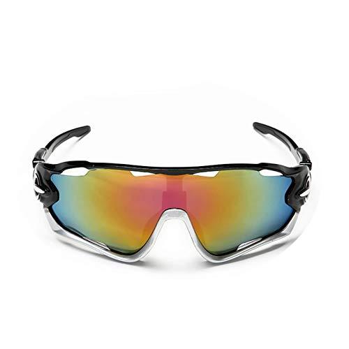 Beydodo Unisex Schutzbrille Winddicht Sportbrille Radfahren Sonnenbrille Schutzbrille zum Schießen Schwarz Silber Rot