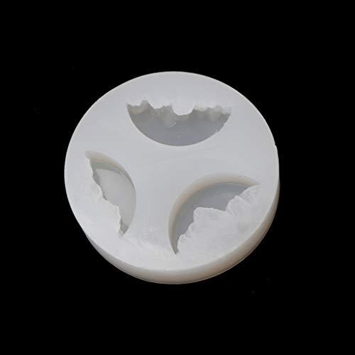 Eliky Gießform Silicone Mold Resin DIY Snow Mountain Mold Micro Landscape Epoxy Resin Molds (Mini-cupcakes Moldes)