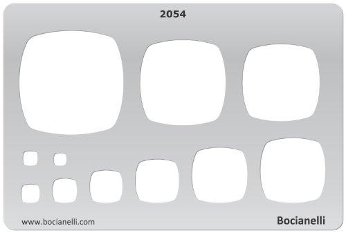 15cm x 10cm Normographe Plastique Transparent Trace Gabarit de Dessin Conception Graphique Art Artisanat Fabrication Bijoux Illustration - Coussins