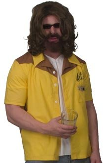 Bowling Shirt Kostüm - The Big Lebowski The Dude Art Bowling Shirt Replica Adult Small