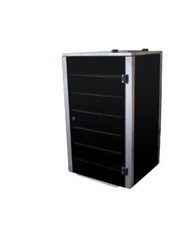 Mülltonnenbox Edelstahl, Modell Eleganza 120 Liter in Schwarz (Pulverbeschichtet)