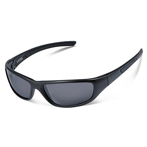 LATEC Polarisierte Sportbrille Sonnenbrille, Sport-Sonnenbrille Fahrradbrille Männer Frauen mit UV400 Schutz & unzerbrechlichem Rahmen aus TR90, für Angeln, Skifahren, Golf, Laufen, Radfahren