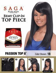 SAGA CLIP- IN TOP PIECE REMY PASSION 8 - Color#OM30 by Unknown