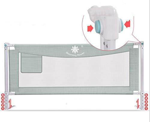 VTAV Carril de Seguridad de la Cama portátil - Carril de Seguridad de fácil Ajuste para niños pequeños Cama para niños (Color : Green, Size : 1.8m)