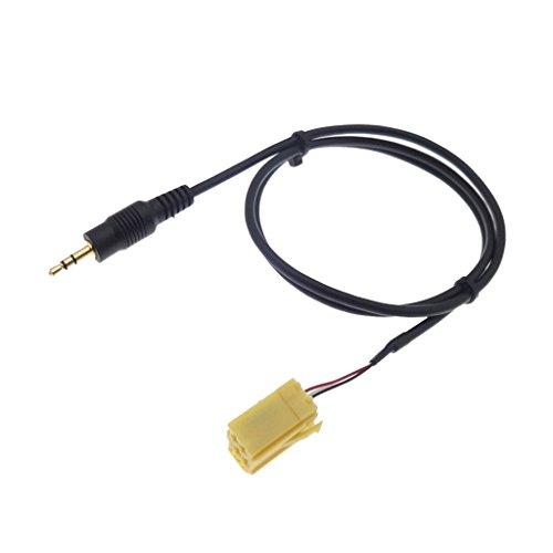 F Fityle C/âble Adaptateur Dentr/ée 3.5MM AUX pour Peugeot 206 207 307 308 pour Citroen Sega C2 avec T/ête RD9 USB
