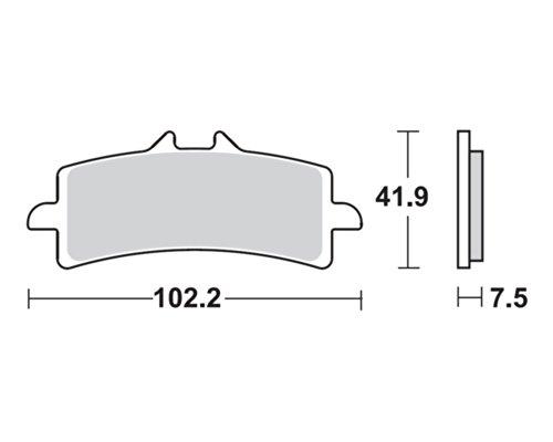 Pastiglie dei freni TRW MCB792SV per Ducati 1098 R, S H7 07- (anteriore)