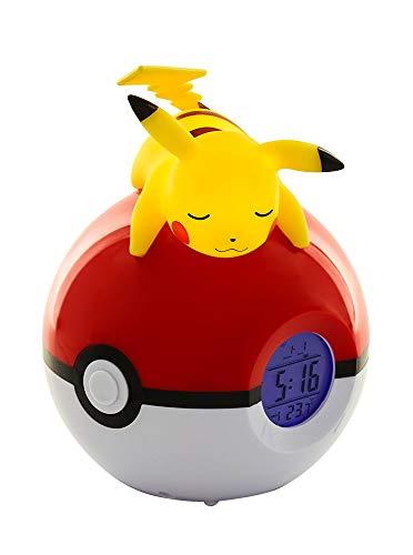 Pokemon Pikachu Radio Wecker Uhr Pokéball Uhr mit Licht und Temperaturanzeige PVC rot