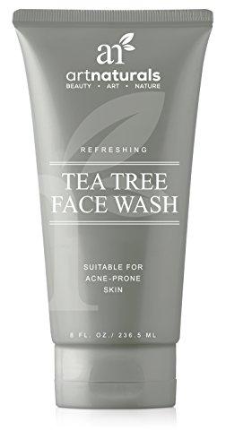 ArtNaturals Akne Reinigungscreme Waschlotion fürs Gesicht - (8 oz / 236 ml) - Pflegende Gesichtsreinigung mit Teebaumöl - Erfrischend und Sanft zur täglichen Anwendung