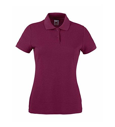 Camicia Polo Donna Poloshirt Taglio ampio Burgundy