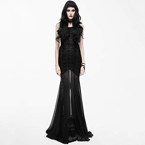 CDCDL Damen Gothic Vintage Kleid -Sling Langer Rock, Faltenrock, Pullover, Gaze, geeignet für Feste, Bankette, Hochzeiten, Kirchen, Cocktailpartys, - Tanz Kostüm Kirche