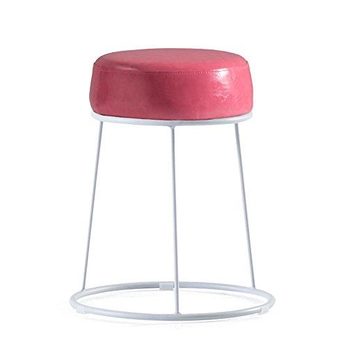 Haushocker, Schminktisch, faul kleine Bank, nordischer Eisenhocker, niedriger Hocker, weiche Oberfläche dicker Hocker ( Farbe : Pink )