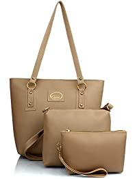 Mammon Women's Hand Bags, Sling Bags and Clutch (Beige) -Combo Set of 3