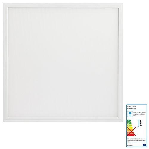 illumitec LED Panel Leuchte blendfrei UGR19, 40W, 4000 Lumen (100 lm/W), 620 x 620 x 10 mm, 62 x 62 x 1 cm, Neutralweiß 840 (4000K), UGR<19, Bildschirmarbeitsplatz, Büroleuchte, Rasterleuchte, Rastereinlegeleuchte, Odenwalddecke, Rahmen weiß