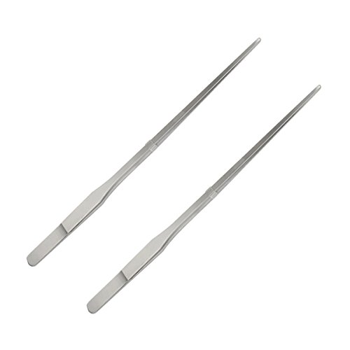 fypo-hospital-home-stainless-steel-long-straight-tweezers-forceps-handy-tool-26-cm-2-pack-straight