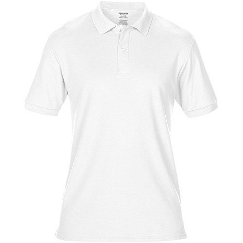 Gildan Mens Dryblend Double Pique Sport Shirt White