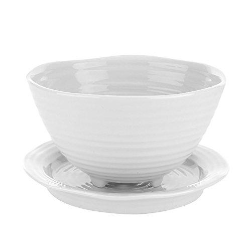 Sophie Conran pour Portmeirion Bol de Berry et Support, Porcelaine, Blanc, 16.3 x 14.2 x 8 cm