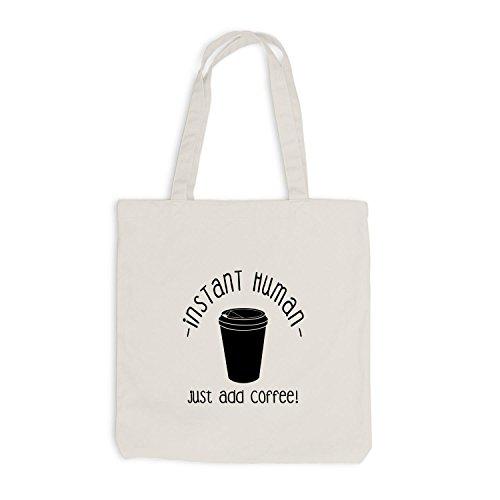 Jutebeutel - Solo Caffè Umano - Divertente Ufficio Di Lavoro Kaffee Beige