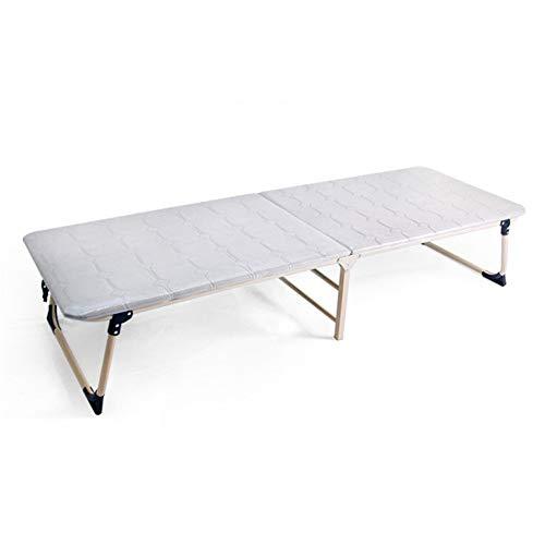 Klappbett Einzelne hochklappbare Klappbettmatratze Aluminium Liegende Holzoberflächen-Komfortmatratze Leichte kompakte wegklappbare Gästebett Tragbares Mehrzweckklappbett Robuste tragbare Betten für C
