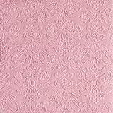 Ambiente 60 pièces Serviette Dîner Elegance - marqué - 40 x 40 cm - Différentes Couleurs pour Mariage,baptême,Confirmation,Communion - Pastel Rose