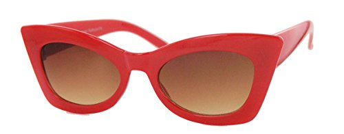 60´s Special Damen Sonnenbrille Cat Eye Modell FARBWAHL (Rot)
