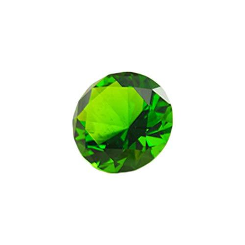 Amber Glass Jewel (Amosfun Crystal Diamond Big Ruby Jewel Paperweight Jewels Ornament Gift Wedding Scatter Confetti Home Decorations 80mm (Green))