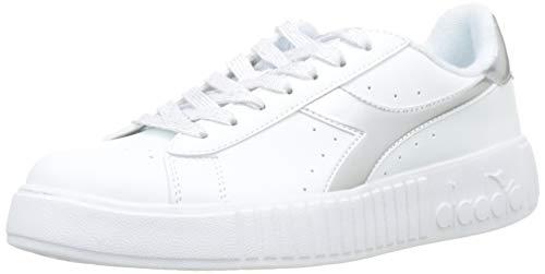 Diadora Game P Step, Sneaker Donna, (Argento Metallizzato 90001)), 42 EU