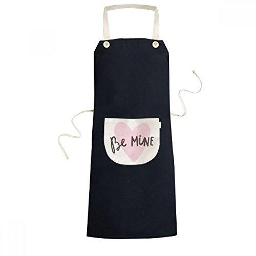 DIYthinker Seien Sie Meine Rosa-Zitat Hundwrite Schürze Koch Lätzchen Küche Taschen 70cm x 67cm Schwarz - Meine Rosa Schürze