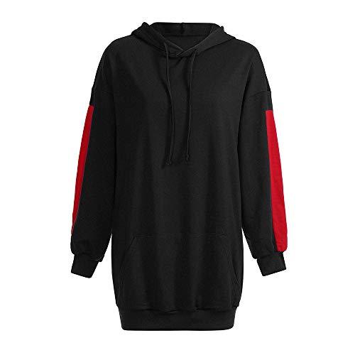 ZEZKT Hoodie Femme, Sweat-Shirts Longues Sweats à Capuche Robe Pull en Coton Sweat Grande Taille Veste de Sport avec Poches T-Shirt à Manches Longues Hiver Tops Swag Chemise Streetwear