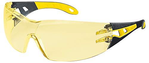 Uvex Pheos Schutzbrille - Getönte Kratzfeste & Beschlagfreie Arbeitsbrille inkl. Brillen-Putztuch