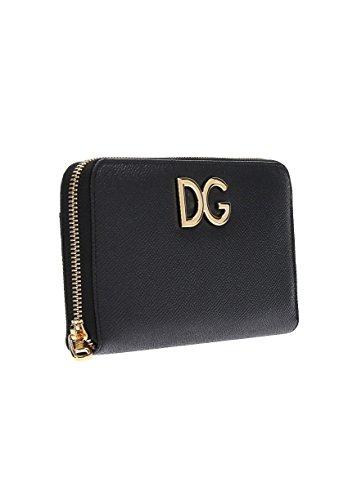 timeless design 8a224 464df Dolce E Gabbana Portafoglio Donna Bi0473ah036hfe10 Pelle Nero
