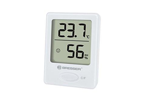Bresser Thermometer Hygrometer Temeo Hygro Indicator zum Aufstellen oder zur Wandmontage mit Raumklima-Indikator einzeln weiß