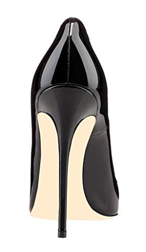 EDEFS Damen Hoch Absatz Pumps Spitze Zehe Elegant High Heels Schuhe Schwarz