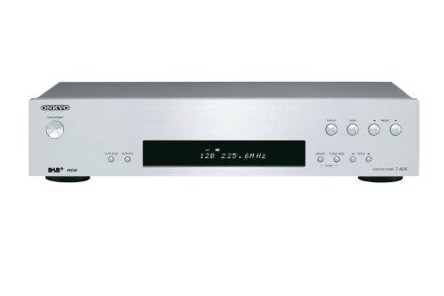 Onkyo T-4030(S) DAB+/DAB/FM-Tuner (Digitalradio, 40 Senderspeicher, RDS, hohe Klangqualität, VLSC zur Pulsrauschunterdrückung, hochwertiges Design mit Gerätefront aus Aluminium), Silber
