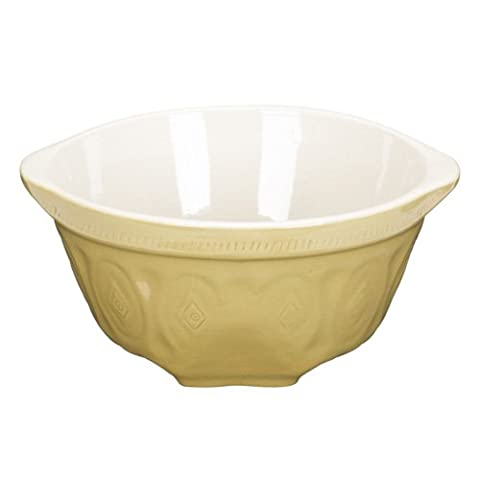 Home Made Traditional Stoneware 24cm Mixing Bowl - A traditional, tried and tested stoneware mixing bowl with angled panel to rest on worktops, making mixing easier.