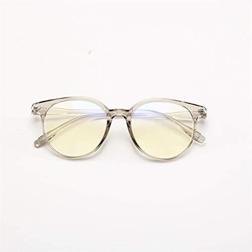 Neue Populäre Frauen-Anti-Blau-Anti-Strahlungs-Mann-Computerspielschutzgläser For Mode-Brillen (Frame Color : Gray)
