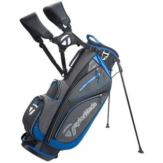 TaylorMade Golf 2018 Classic Stand Bag Mens Carry Bag 6 Way Divider Black/Charcoal Heather/Blue