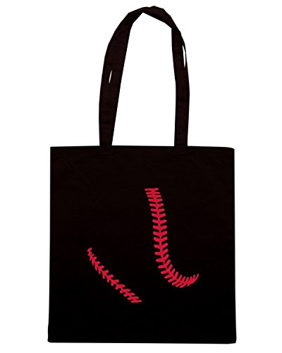 T-Shirtshock - Borsa Shopping OLDENG00390 baseball Nero