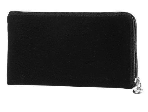 Reissverschluss Handytasche schwarz geeignet für Samsung Galaxy Note 4 SM-N910S / SM-N910C Handy Schutz Hülle Slim Case Cover Etui schwarz