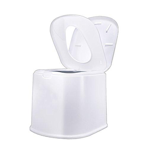 LI JING SHOP - La chaise portative de toilette peut se déplacer pour des enfants et des femmes enceintes à l'intérieur du canon X1 Environmental PP Resin 44X51X41cm Couleur: Kaki, blanc ( Couleur : Blanc )