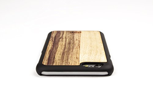 WoodWe Natural Wood Protective Handmade Case / Cover | For Iphone 7 / 8 | Authentic & Stylish | Ethically Sourced | BAMBOO Black Frake