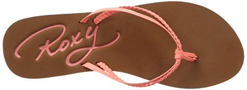 Roxy Cabo J, Tongs Femme Rose (Peaches)