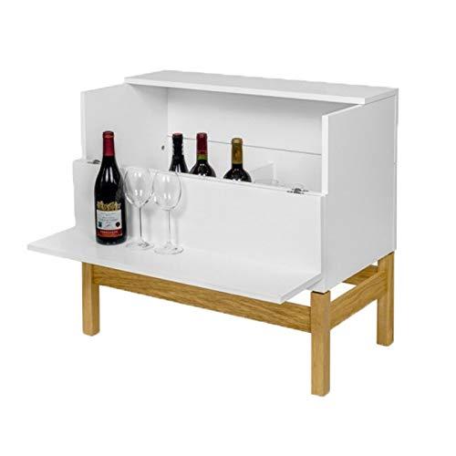 Paris Prix - Mini Bar Design Grande 75cm Blanc