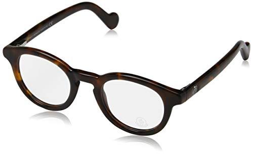 Moncler Unisex-Erwachsene Brillengestelle Ml5002, Braun (Avana SCURA), 46