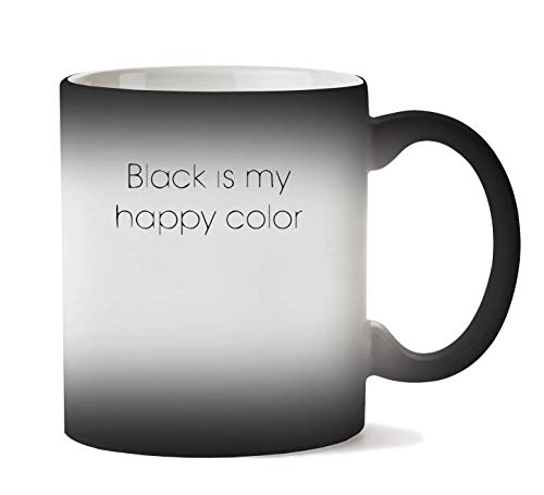 1GD Black is My Happy Color Tasse Chaleur Changement De Couleur