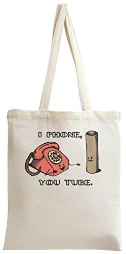 I Phone You Tube Tote Bag (Ringer Mama)