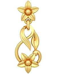 Jewel One 22k (916) Yellow Gold The Twisty Bryony Drop Earrings