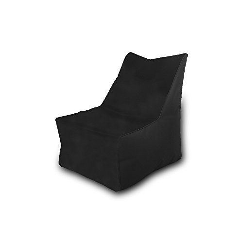 Beanbag Waterproof Polyester Chair 75 x 75 cm (Black)